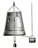 19th Century diving bell, illustration