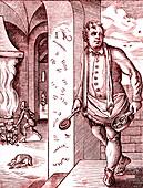 16th Century cook, illustration