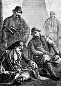 19th Century Turkish noble family, illustration
