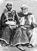 19th Century Pakistani merchants, illustration