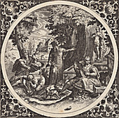 Venereal disease, 16th-century allegorical illustration