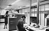 UNIVAC 490 computer operators, 1960s