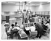 UNIVAC 494 computer operators at NASA, 1960s