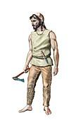 Neolithic man, illustration