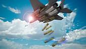 Cyber warfare, conceptual illustration