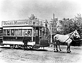 Horse-drawn tram in Oxford, 1890s