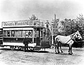 Horse-drawn tram in Oxford, 1890s