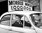 One-millionth Morris Minor, Oxford, 1960