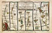Antiquarian survey map, 18th century