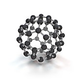 Buckminsterfullerene molecule (C60), illustration