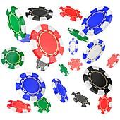 Poker chips, illustration
