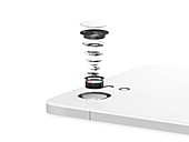 Smartphone camera lens, illustration