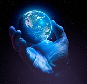 Earth's fragility, conceptual illustration