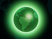 Digital Earth, conceptual illustration