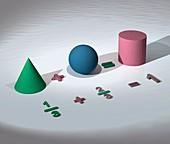 Geometrical equation, illustration