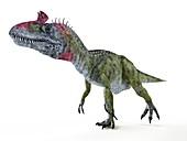 Illustration of a Cryolophosaurus