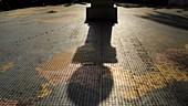 Equatorial equinox shadow, timelapse