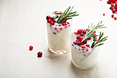 Perfect christmas coconut Margarita with cranberries