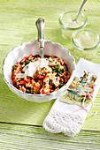 Tomato and chard risotto