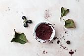 Aronia berries and powder
