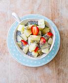 Chia, melon, and strawberry bowl