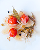 Pickled tomatoes and onions