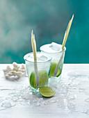 Coconut and Lemon Grass Rum Cocktails