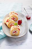 Strawberry and raspberry rolls