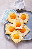 'Fried egg' pastries