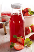 Homemade strawberry vinegar