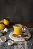 Lemon cream in the jar