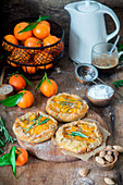 Mini almond tangerine pies
