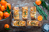 Puff pastry with tangerines