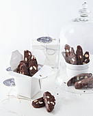 Chocolate cantuccini as a gift
