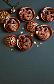 Viennese chocolate biscuits