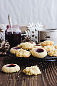 Butter biscuits with jam