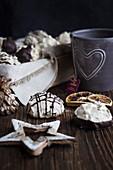 Chocolate and walnut macaroons
