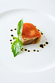 Tomato terrine with aged balsamic vinegar