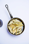 'Maultaschen' (Swabian ravioli) in stock