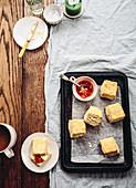 Scones with jam (England)