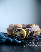 Vegan lavender, vanilla and chocolate sponge cake