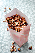 Popcorn with oreo biscuit coating