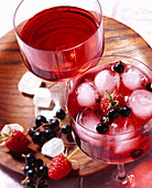Blackcurrant liqueur with raspberries, redcurrants, star anise, corn schnapps and rock sugar