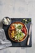 Vegetable tarte with ricotta