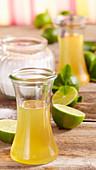 Homemade lime syrup