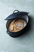 A loaf of bread baked in a pot