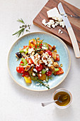 Mediterranean vegetables with manouri