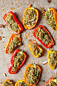 Stuffed mini peppers with a crunchy crust