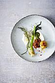 Fennel with small potato dumplings and tomato sugo