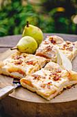 Thuringian pear tray bake cake